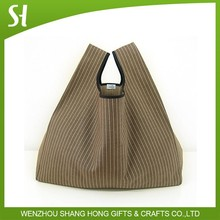 high quality vertical stripes vest bag cotton canvas calico IKEA Zakka style lunch bag for promotion gift shopping