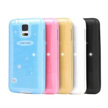 2015 hot selling Bling Bling Soft tpu case for samsung galaxy s4 cover