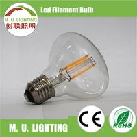 E27 R80 brass base LED Filament Bulb for hotel, LED lighting lamp bulb