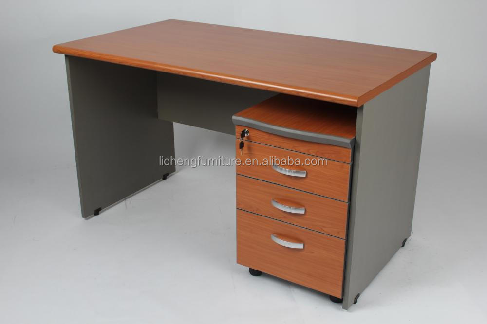 Drawers Wooden Table/mdf Office Table With Mobile Cabinet   Buy ...
