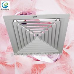 Air conditioner louvre faced diffuser register