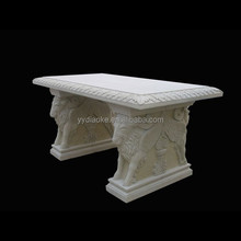 Polished stone dining room tables with lamb