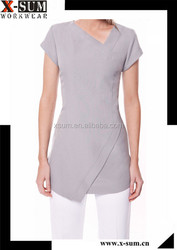 Polyester/Spandex Women Salon Uniform Beauty Spa