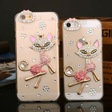Sex Fox Bling Diamond Case for iPhone,For Cell Phone Rhinestone Protective Case