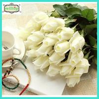 56cm single stem silk real touch rose flower