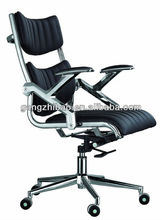 metal low back swivel office chair ,aluminium armrest computer task chair