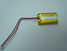 China High qualty 602439 Lipo Battery cell rechargeable batteries 3.7V 500mAh