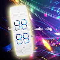 2015 wholesale watches plastic watch unisex led waterproof watch