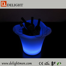 Outdoor furniture hot sale lighted waterproof 16 color changing remote control stylish led wine bottle holders for bar