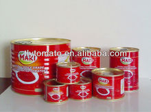 Hot Sell Health Food Good Quality Natural Fresh Tin Canned Red Tomato Paste 850g*12tins/ctn