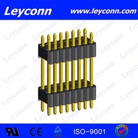 Pitch 1.27X2.54mm Double Layer Double Row Straight Solder Pin Header connecter alibaba China supplier
