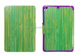 Fashion tablet accessory case, Wholesale pc/tpu bamboo/wood case for ipad mini