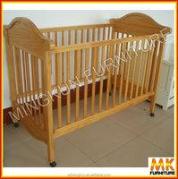 wood baby crib wheels