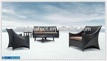 2012 perfect welling well teak top table and rattan chair