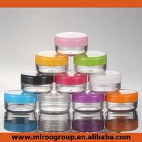 5g 10g 15g 20g 30g 50g plastic cosmetic jar, cosmetics jar, recycled plastic cosmetic jars