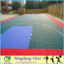 outdoor used basketball court flooring interlocking tiles