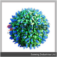new design topiary flower balls clear hanging glass balls