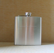 2015 factory direct supply hip flask, painting stainless steel hip flask for drink