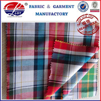 hot selling Cotton fabric stocklot in alibaba china,cotton check shirt fabric