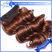 Cheap prices clip in synthetic hair extension line hair weave, red hair weave, synthetic curly hair weave