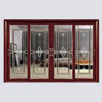 Interior Wooden Glass Sliding doors Aluminium glass folding door Interior shutters sliding glass doors