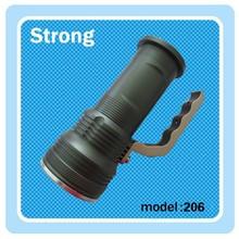 aluminum housing rechargeable handle led flashlight
