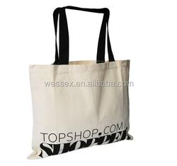 Natural Canvas Shopping Bag Cotton Promotional Shopper Cotton Handle Bag