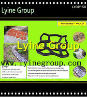 DIY Concrete Slabs Brick Path Maker black pp Cobblestone-look landscaping Paving Mold with low price
