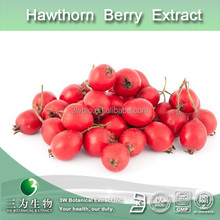 100% natural hawthorn berry pe, hawthorn berry extract