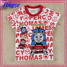 2015 Hot selling cheap wholesale kids clothes boy short sleeve T-shirt thomas child printing T-shirt TR-T38