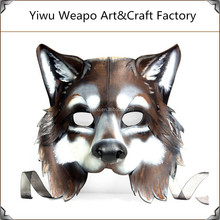 Wholesale fashion single or double colors cheap venetian realistic latex face wolf mask
