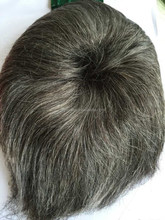 2015 hot sale grey human hair toupee for men