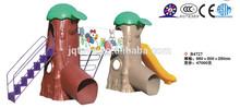 Popular Kids Outdoor Plastic tree play house slide Playground Equipment