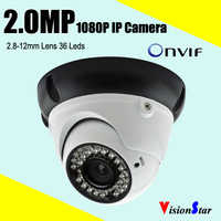 Bottom price security camera system home using 1080p 2mp cmos 36pcs ir leds 2.8-12mm lens dome network ip camera module