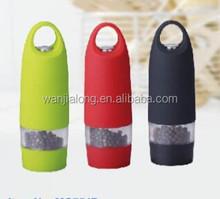 Mini one hand plastic electric pepper and salt mill