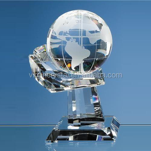 Pillar award crystal trophy
