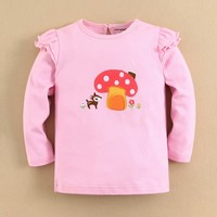 100%cotton embroidery baby clothing baby tshirt wholesale