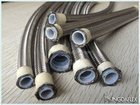 304 Stainless Steel Wire Braided High Pressure Teflon Paint Hose/Acid Resistant Pipe/PTFE Tube
