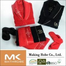 Western 100% cotton towel bathrobe gift set packaging