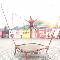 1 person bungee trampoline for kids fitness