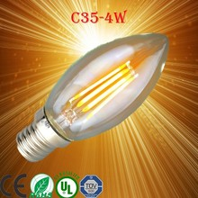 Wholesale price E14 2W Glass Cover Warm white Cold White Led Filament Candle Light Bulbs AC100-240V CE Certificate