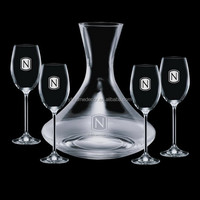 2016 hot selling home latest art handcraft wholesale clear glass wine decanter