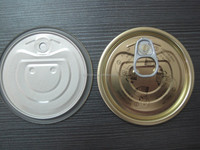 Tinplate Full Open Easy Open Lids 300#73mm for Seafood Cans