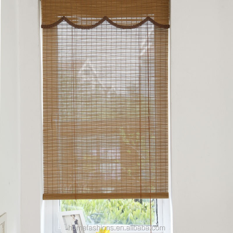 Manual Motorized Dim Out Bamboo Bamboo Blinds Outdoor