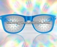 Fancy Christmas eyeglass novelty eyeware diffraction glasses rave party glasses