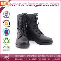 Men black military spec split genuine cow Leather Combat Boots
