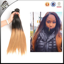 buy direct from china manufacturer two tone brazilian hair weft, colored two tone hair weave for black women