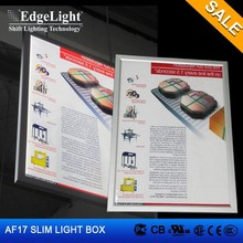 Edgelight AF17 aluminum frame double sided led light box classics hang type
