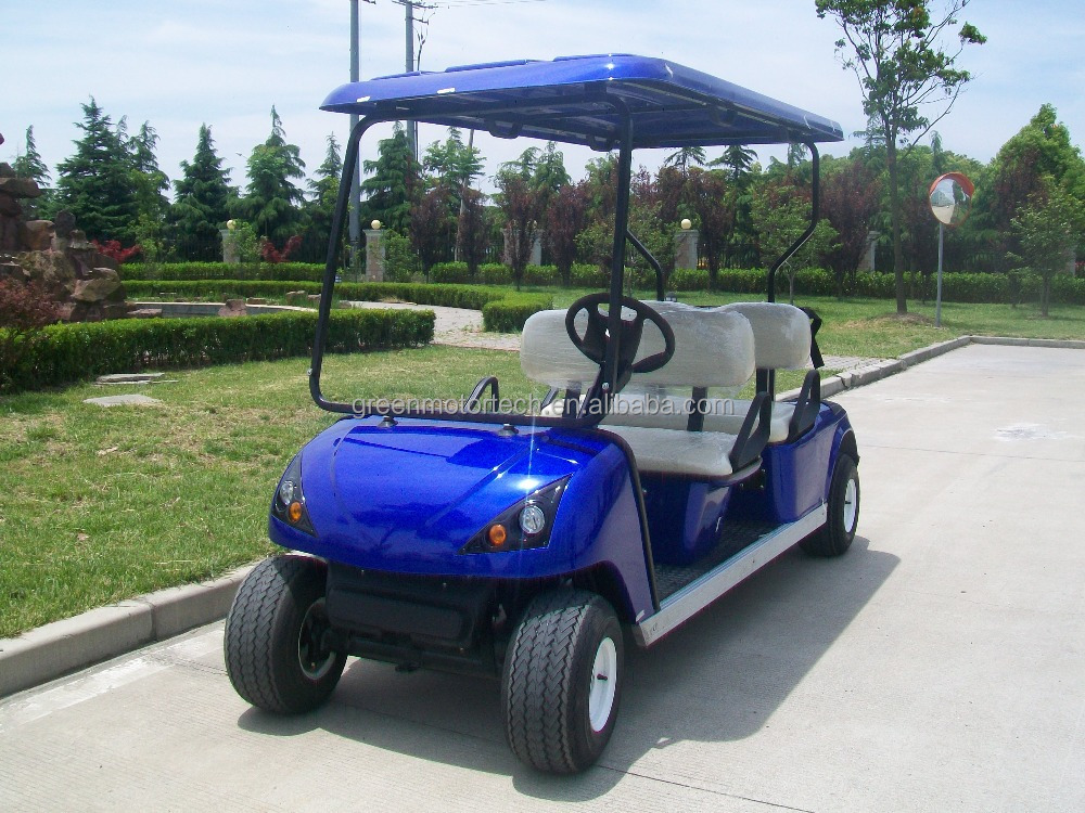 Cheap high quality golf cart with battery powered made in for Motorized carts for sale