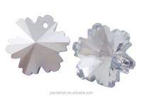 Diamond Cutting Crystal Snowflake Pendant, 100pcs/bag(GC14MM51Y-S)
